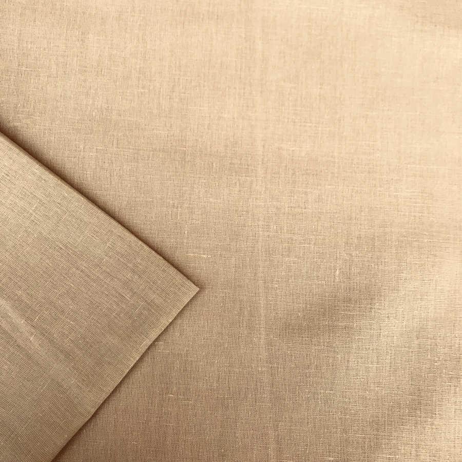 Льняная тканьТеплый Песок 2
