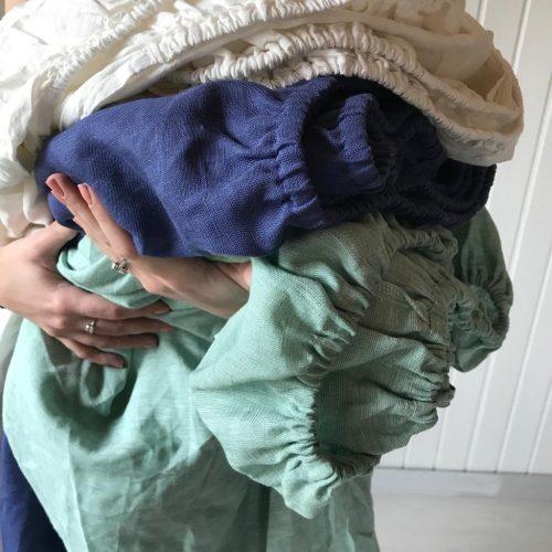 Простыни на резинке из белорусского льна - Льняное