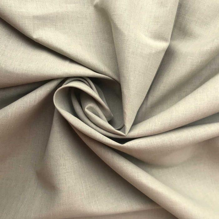 Льняные ткани - Ткань из льна Теплый Серый 1
