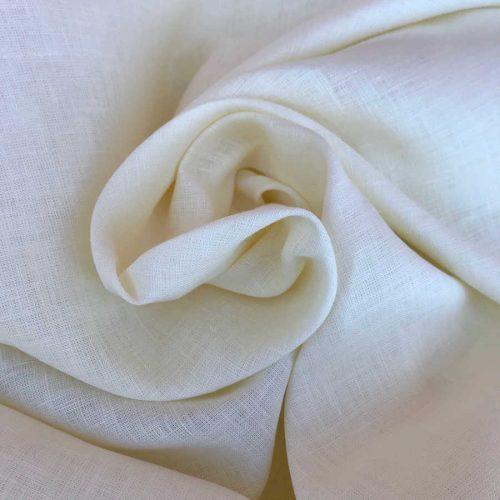 100% Льняная ткань Белая 260см