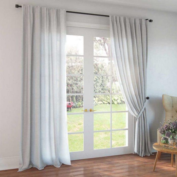 Белые шторы - лен 100%