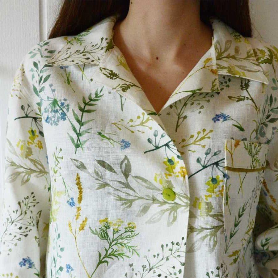 Пижама из белорусского льна Поляна