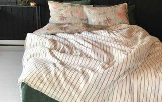 Элитное постельное белье льняное - Осень