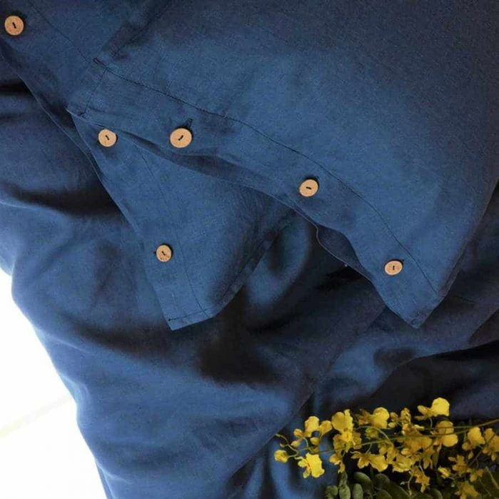 Постельное белье Синий изо льна