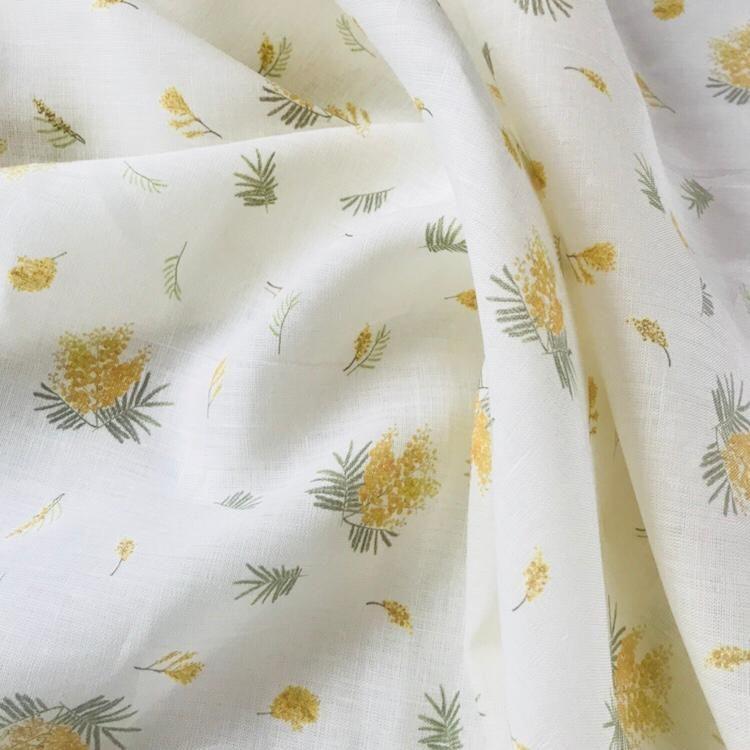 100% Льняная сорочечная ткань Мимоза
