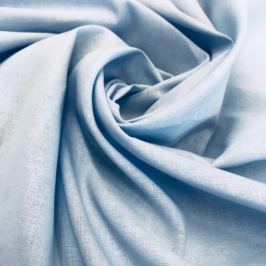 100% Льняная ткань Небесно-Голубая