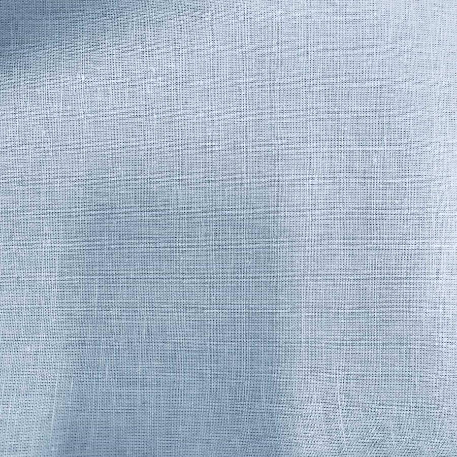 Льняная ткань широкая Небесно-Голубая 2