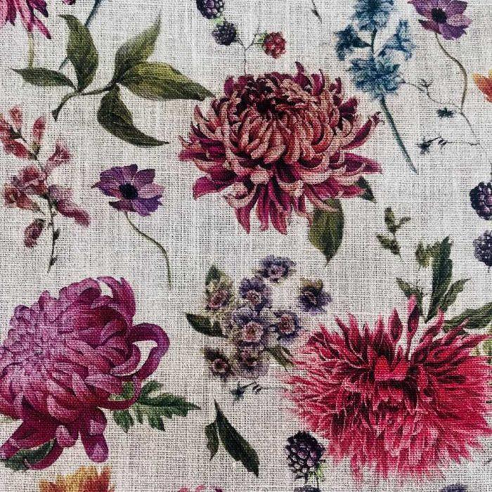 Скатертная льняная ткань Мирильда