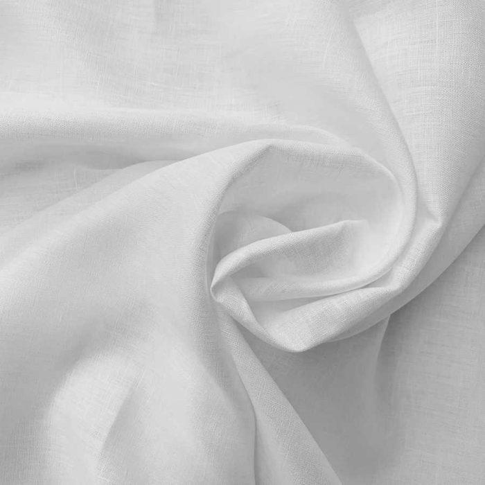 Умягченный лен для одежды Белый