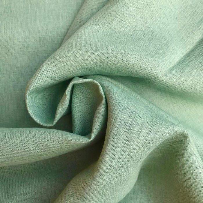 Ткань из 100% льна Фисташковая