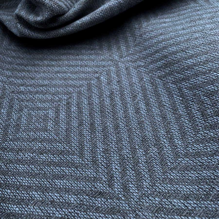 Льняная Ткань декоративная Серая Классическая