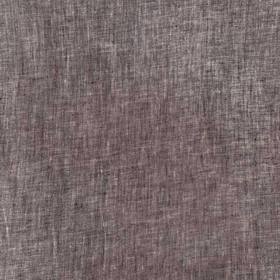 Ткань из льна для одежды Серая
