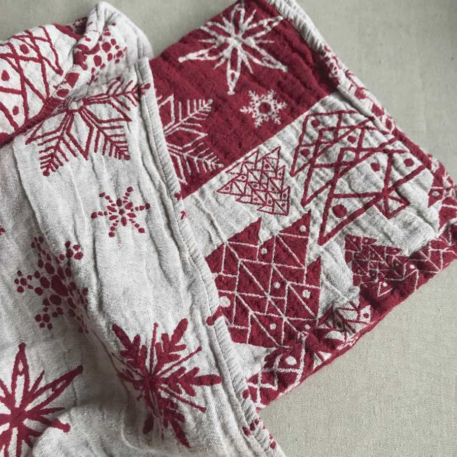Банное полотенце из льна Новогоднее