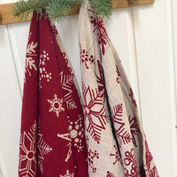 Банное полотенце из умягченного льна Новый Год