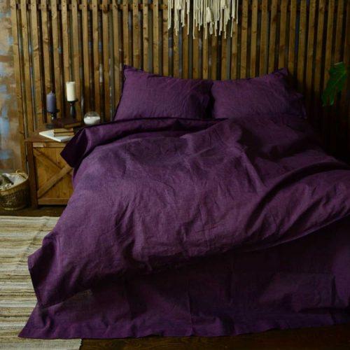 Комплект постельного белья из льна Ягодный Микст