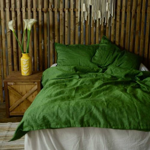 Комплект постельного белья изо льна Молодой Мох