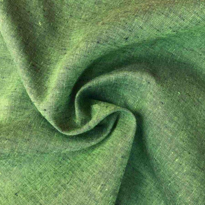 Льняная ткань Молодой Мох