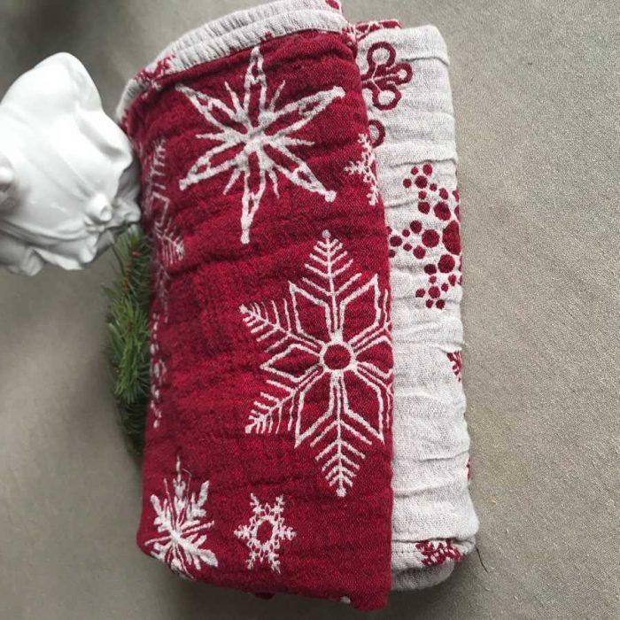 Льняное полотенце для бани Новый Год
