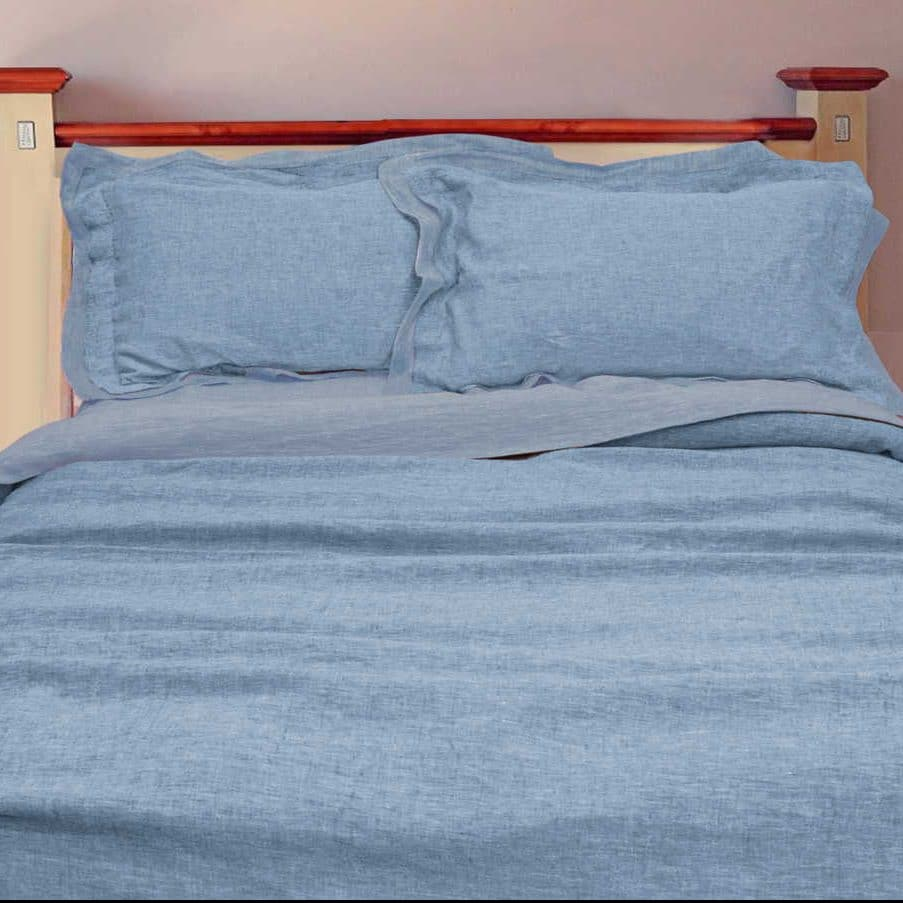 Оршанский постельный комплект Голубой умягченный