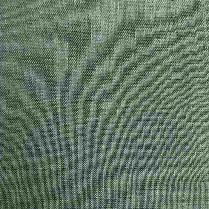 100% Льняная ткань Оливковая 1