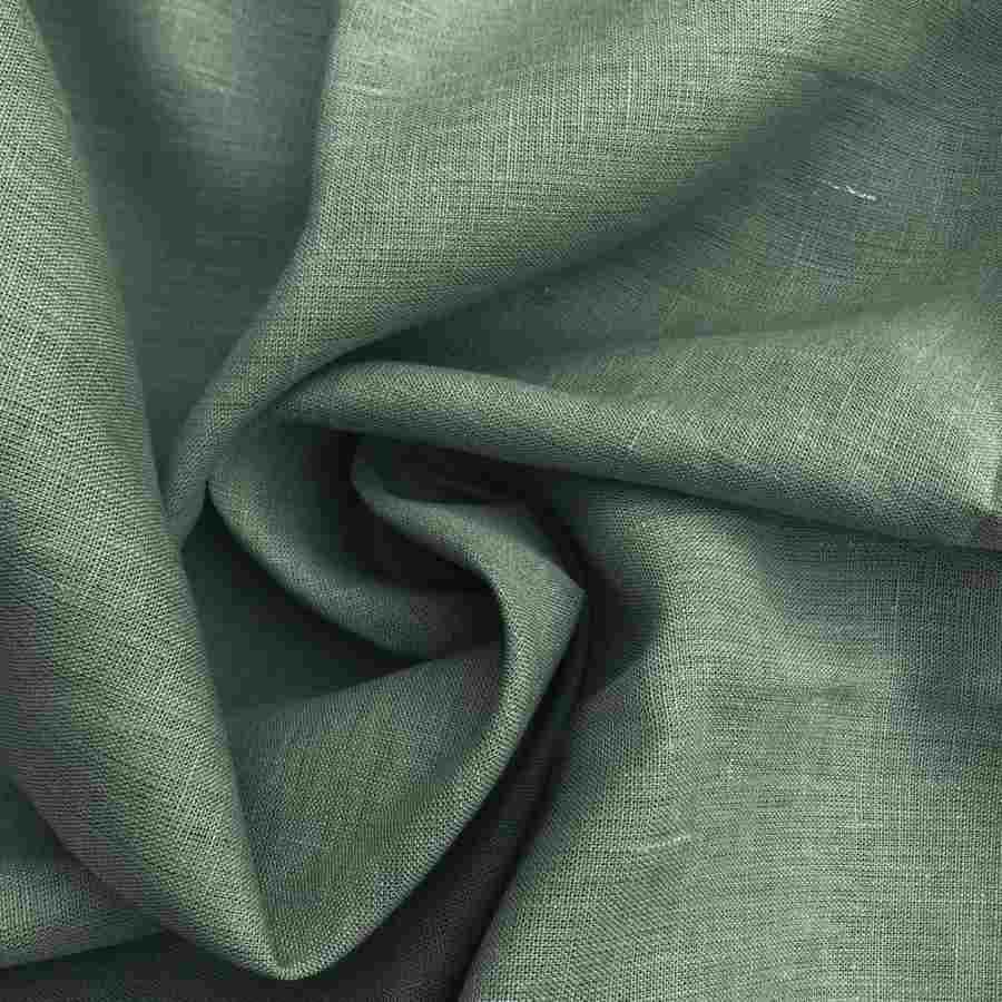 100% Льняная ткань Оливковая