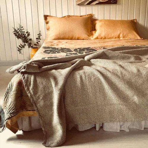 100% Льняное постельное белье Охра