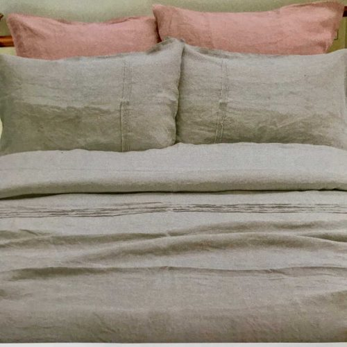 Постельный комплект из льна Розовая Дымка