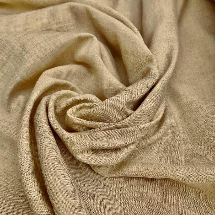 Ткань льняная умягченная Бежевая