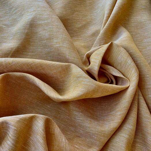 100% Льняная ткань Охра
