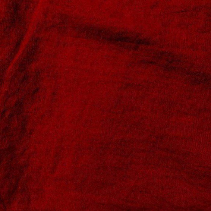 100% Льняная тканя для одежды умягченная Гранат4