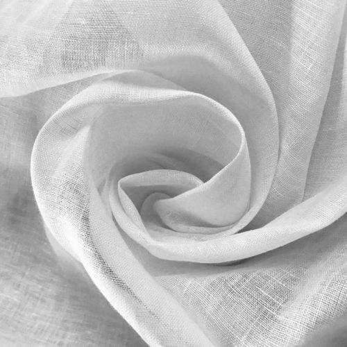 100% Льняная тюлевая ткань Белая