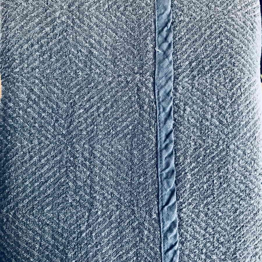 Плед из 100% льна Голубой