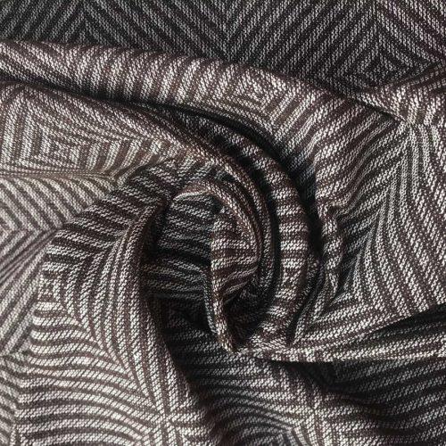 100% Льняная ткань декоративная Коричневый твид