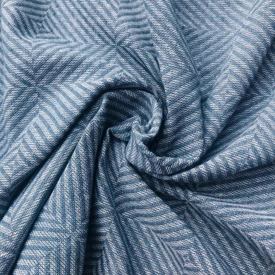 100% Льняная ткань декоративная Серо-голубой твид
