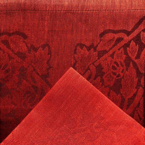Комплект столовый из 100% льна Фаворит Красный