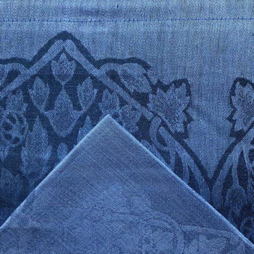 Комплект столовый из 100% льна Фаворит Синий