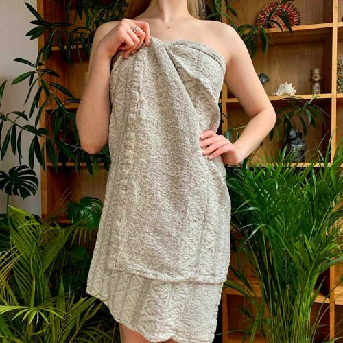Льняное банное полотенце Алеся