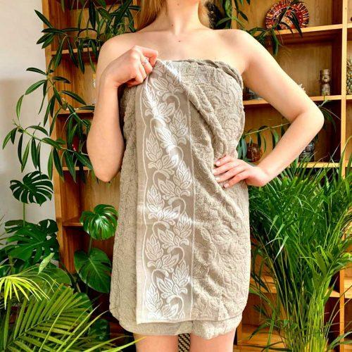 Льняное банное полотенце Эвридика