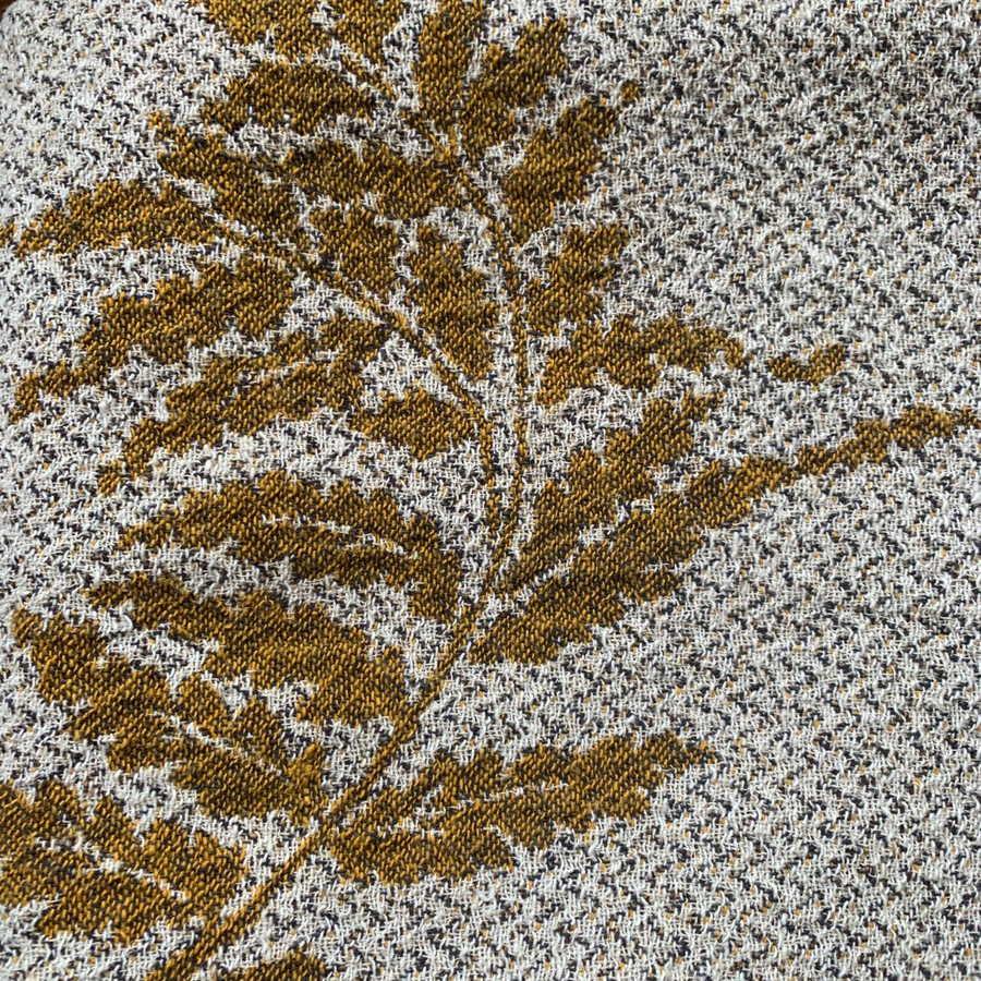 Плед из льна Листья