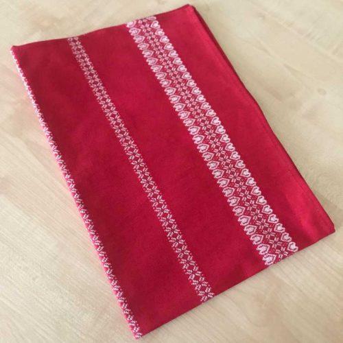 Льняное кухонное полотенце Праздничное - 1