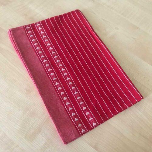 Льняное кухонное полотенце Валентинка - 1